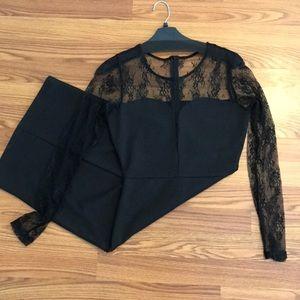 Size S kardashian collection black lace dress